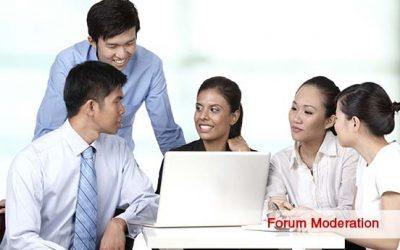 Forum moderation